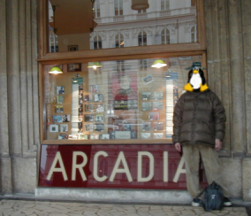 plate of ARCADIA and I in Vienna